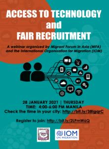 Webinar: Access to Technology and Fair Recruitment