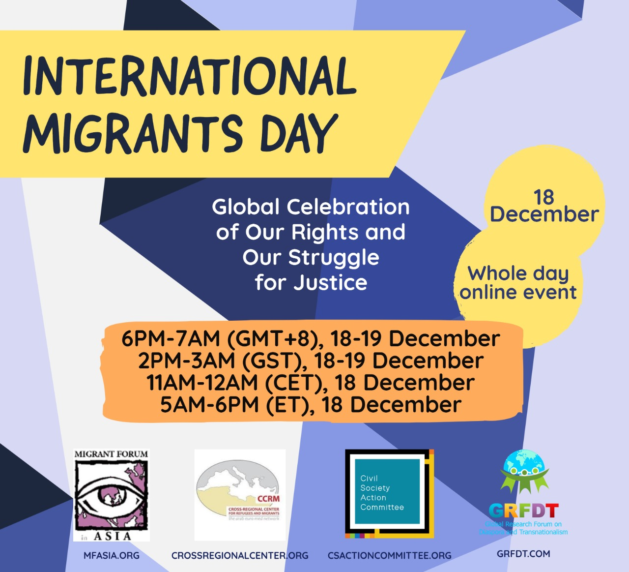 International Migrants Day 18 December 2020