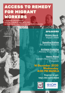 Webinar: Access to Remedy for Migrant Workers