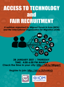 Webinar: Access to Technology and Fair Recruitment